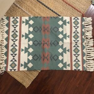 "Two small identical rugs 22.5"" x 36"""